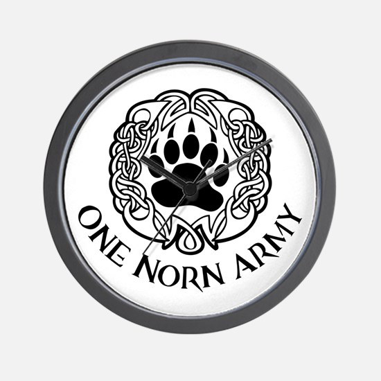 One Norn Army Wall Clock