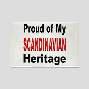Proud Scandinavian Heritage Rectangle Magnet