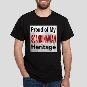 Proud Scandinavian Heritage (Front) Black T-Shirt