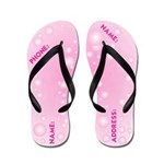 Pink Bubble Name Your Flip Flops
