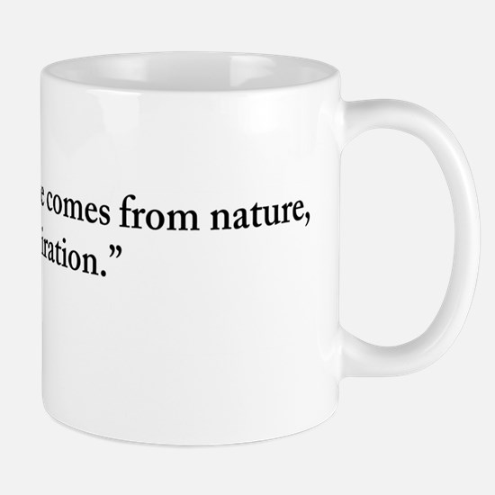 Claude Monet Nature quote Mug