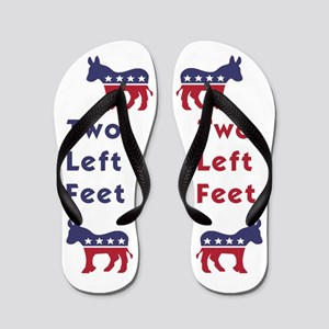 1ddad3c40 Democrat Donkey Two Left Feet Flip Flops