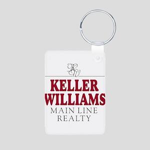 Keller Williams Mugs Aluminum Photo Keychain