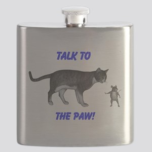 Talk To The Paw Flask