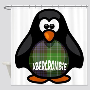 Abercrombie Tartan Penguin Shower Curtain