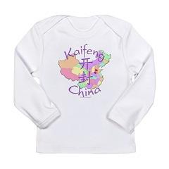 Kaifeng China Map Long Sleeve Infant T-Shirt