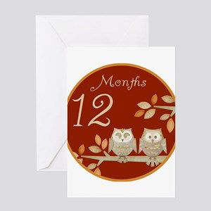 Autumn Owl 12 Months Greeting Card