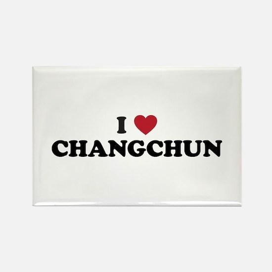 I Love Changchun Rectangle Magnet