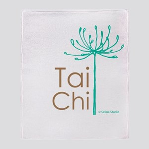 """Tai Chi Growth 2""' Throw Blanket"