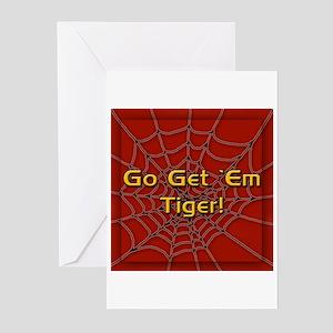 Go Get 'Em Tiger! Greeting Cards (Pk of 10)