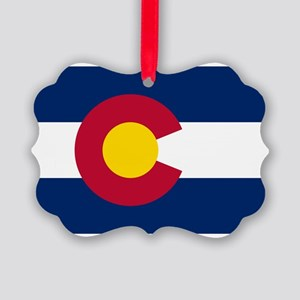 Colorado State Flag Picture Ornament