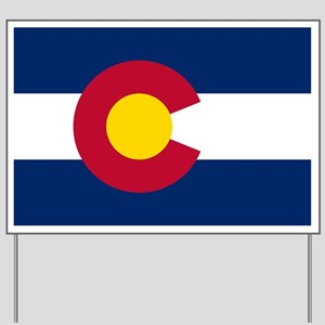 Colorado State Flag Yard Sign