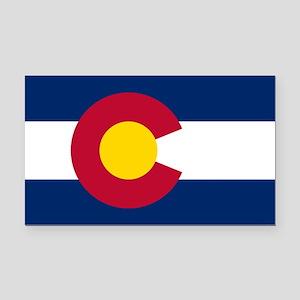 Colorado State Flag Rectangle Car Magnet