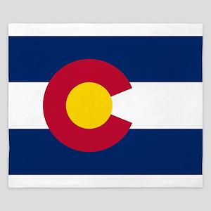 Colorado State Flag King Duvet