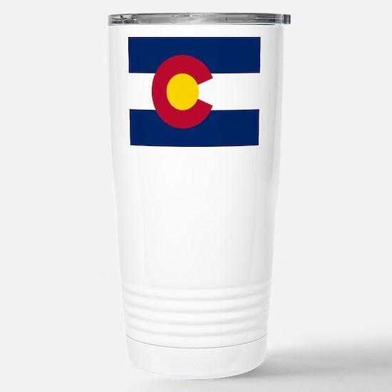 Colorado State Flag Stainless Steel Travel Mug