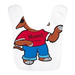 Mooo! 1500x1300 Polyester Baby Bib