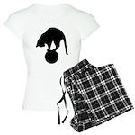 Black Cat Women's Light Pajamas