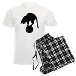 Black Cat Men's Light Pajamas