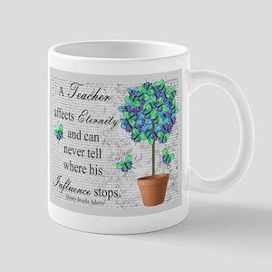 Retired Teacher butterfly blanket blue Mug