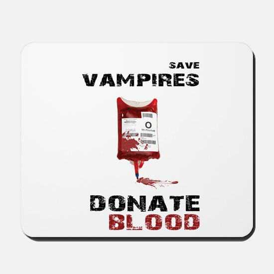 save vampires donate blood shirt Mousepad