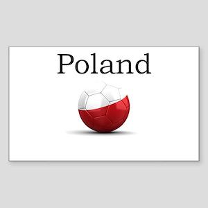Soccer ball-poland Sticker (Rectangle)