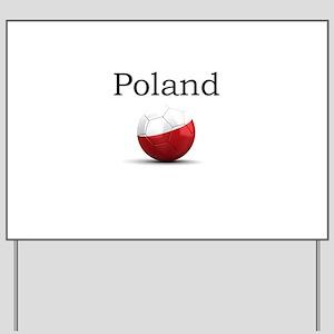 Soccer ball-poland Yard Sign