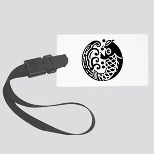 carp and wave Large Luggage Tag