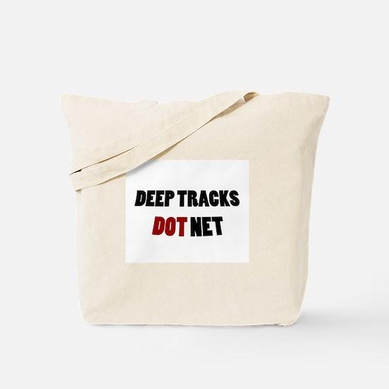 Deep Tracks Red Dot Tote Bag