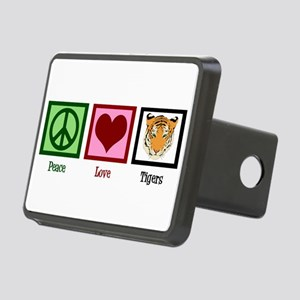 Peace Love Tigers Rectangular Hitch Cover