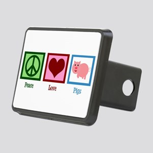 Peace Love Pigs Rectangular Hitch Cover