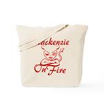 Mackenzie On Fire Tote Bag
