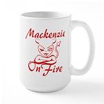 Mackenzie On Fire Large Mug