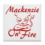 Mackenzie On Fire Tile Coaster