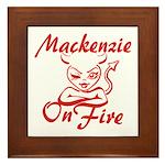 Mackenzie On Fire Framed Tile