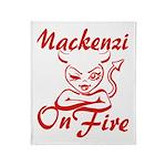 Mackenzie On Fire Throw Blanket