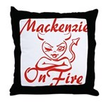 Mackenzie On Fire Throw Pillow