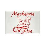 Mackenzie On Fire Rectangle Magnet