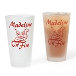 Madeline On Fire Drinking Glass