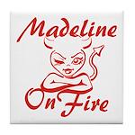 Madeline On Fire Tile Coaster