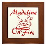 Madeline On Fire Framed Tile