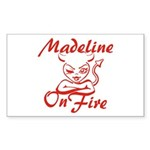 Madeline On Fire Sticker (Rectangle)