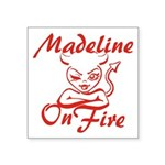 Madeline On Fire Square Sticker 3