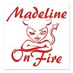 Madeline On Fire Square Car Magnet 3