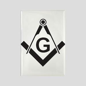 Masonic: Square & Compass Rectangle Magnet