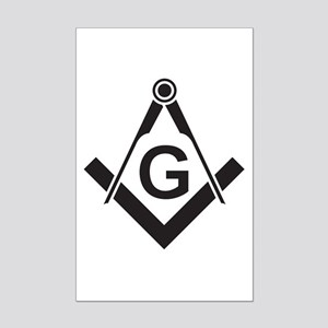 Masonic: Square & Compass Mini Poster Print