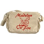 Madelyn On Fire Messenger Bag