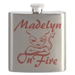Madelyn On Fire Flask