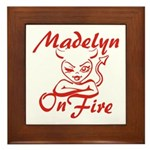 Madelyn On Fire Framed Tile