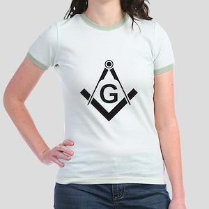 Masonic: Square & Compass Jr. Ringer T-Shirt