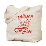 Madison On Fire Tote Bag
